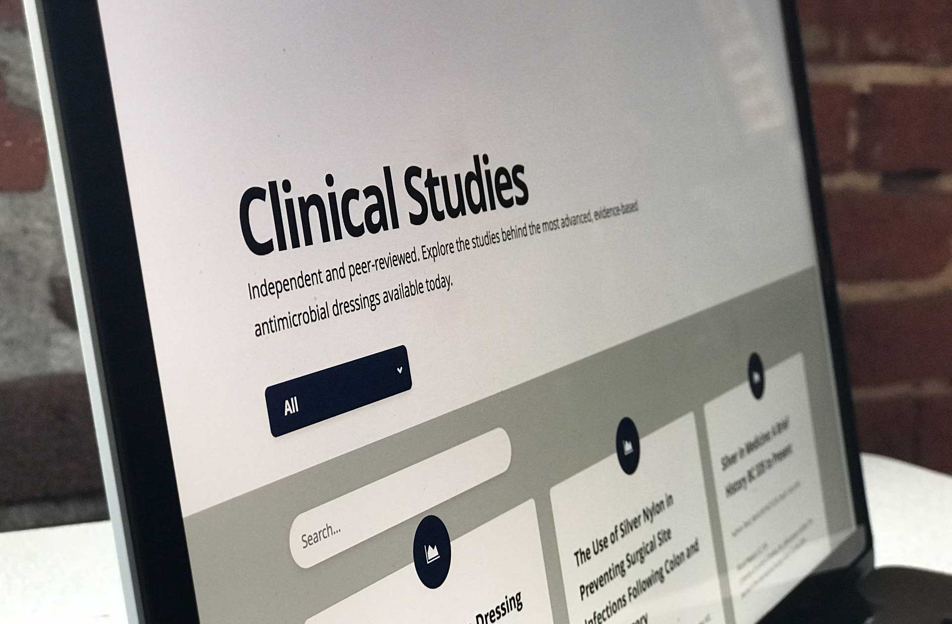 Silverlon Performance Clinical Studies Screenshot